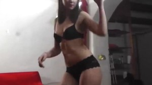 Seductive TEEN enjoys striptease