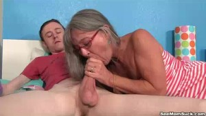 Milf Empties Step-son s Balls Sucking His Thick Cock