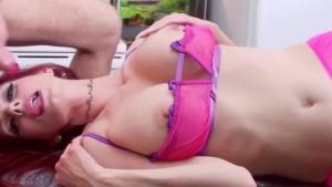 Busty Milf Shanda Fay Sucks Cock in the Kitchen!