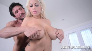 Bridgette B Gags On and Rides Huge Cock!