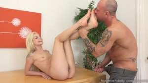 Elsa Jean Gets Explosion of Cum All Over Her Feet