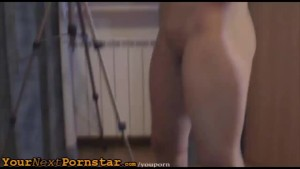 Redhaired wannabe fucks her pussy with dildo