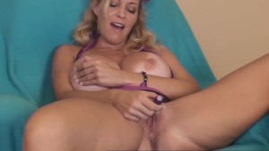 Pocket Toy Makes Horny MILF Charlee Chase Cum!