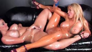 Taylor Vixen Lesbian Baby Oil Fun