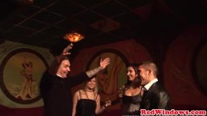 Dutch prostitute cumsprayed while fingering