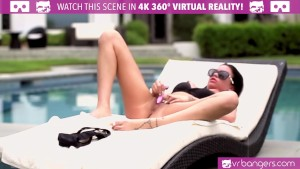 VR Bangers- Slutty LATINA Raven Bay masturbates and CUMMING LOUDLY
