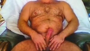 Hairy streep tease cum