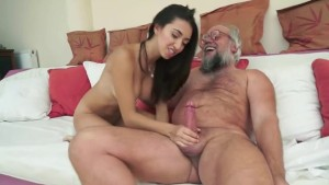 naughty-hotties.net - Old Man gets to Sample a Young Cutie.flv