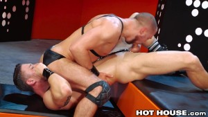 HotHouse Perfectly Muscular Hunks Fucking In Leather
