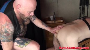 Bonded sub bear spitroasted by inked chubbies