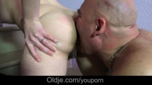 Step Dad Old cock medicine fucking step daughter forever wet hairy pussy