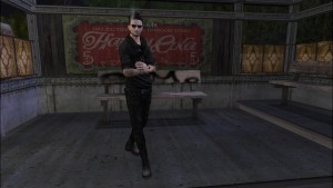 Un homme virtuel entrain de fumer