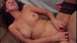 POV Two On One Fucking With Mature Brunette