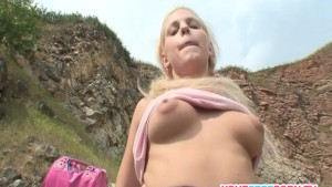 Skinny bitch having hard sex on the mountain part two.mp4
