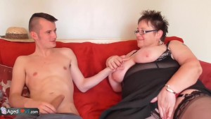 AgedLove BBW Honey and Sam Bourne hardcore