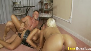 Loads of semen for Angelica Heart and Larine Laroche.mp4