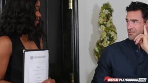 DP Star 3 - Ebony Big Tit Jenna Foxx Deep Throat Blowjob