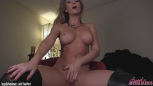 Angela Sommers strip tease and finger fucking