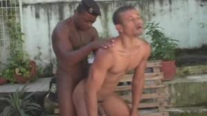 Uniformed Beret Bangs His Boyfriend