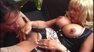 Big Boobed Mature Blonde House