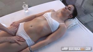 BoxTruckSex - Masseur fucks passionately her client in a public place