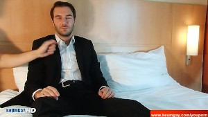 Stephane, A innocent straight guy serviced his big cock by a guy!
