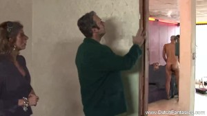 Blonde Lady Fuck And Play With The Two Painters