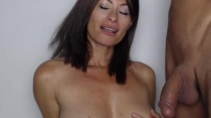 MILF sucking her young bull dry...