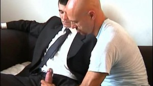 Paul innocent straight vendor guy serviced his big cock by a guy!