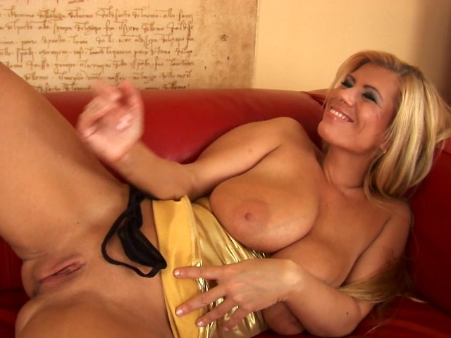 Husband plays with dildo