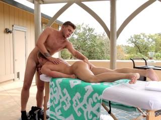 NextDoorTwink Ian Levine Fucked On Massage Table