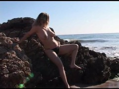 Picture Calia naked on the beach