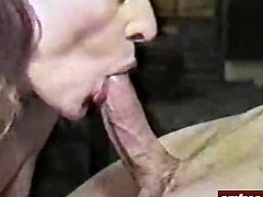 Picture Hot Mature Lady Deepthroating Cock