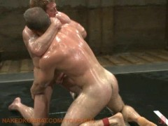 Picture Oil wrestling bad boys in jock straps