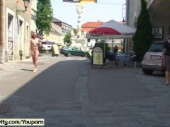 Picture Sweet flasher in public streets
