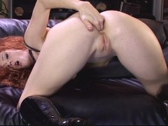 Picture Sluty redhead takes it in the ass