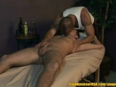 Picture Chad Brock Rubs Seth Michaels