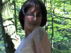 Picture Mature Katia in the woods