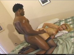 Picture Blonde MILF takes on a huge dark cock