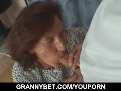 Picture Old seamstress is fucked by a customer