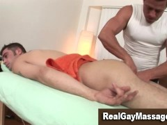 Picture Straight guy gets erotic gay massage