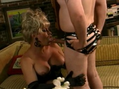 Picture Older transsexual gets her rocks off by her...