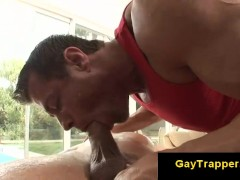 Picture Massage leads to oral gay sex