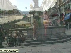 Picture Crazy czech chicken naked on public streets