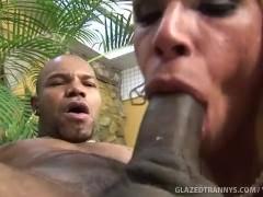 Picture Glazed Tranny Rides Big Black Dick