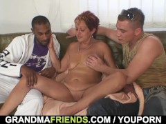 Picture Two dudes bang granny