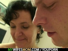 Picture She finds her old mom riding her BF's c...