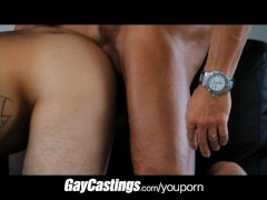 Picture GayCastings tattooed hairy guy gets fucked o...