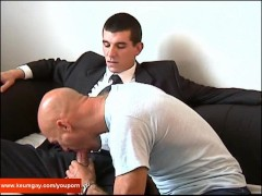 Picture Full video:Guillaume, a suite trouser guy ge...