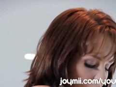 Picture All Natural Redhead Hayden Winters Sits On T...
